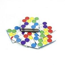 Набор картонных фишек (6 цветов)