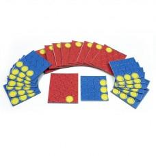 Набор картонных фишек (красных, синих, желтых)