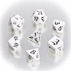 """Набор кубиков для RPG """"Классика"""", бело-черный"""