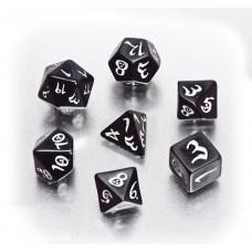 """Набор кубиков для RPG """"Классика"""", черно-белый"""